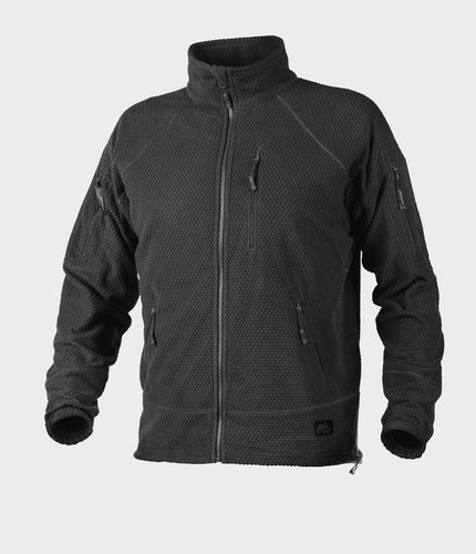 Helikon-Tex® Fleecejacke ALPHA TACTICAL Grid Fleece - Schwarz -