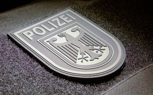 JTG Ärmelabzeichen Bundespolizei, blackops / 3D Rubber Patch BPOL