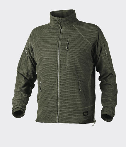 Helikon-Tex® Fleecejacke ALPHA TACTICAL Grid Fleece - Oliv Grün -