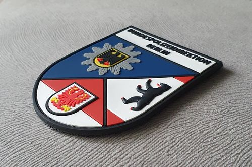 JTG Ärmelabzeichen Bundespolizeidirektion Berlin, fullcolor / JTG 3D Rubber Patch