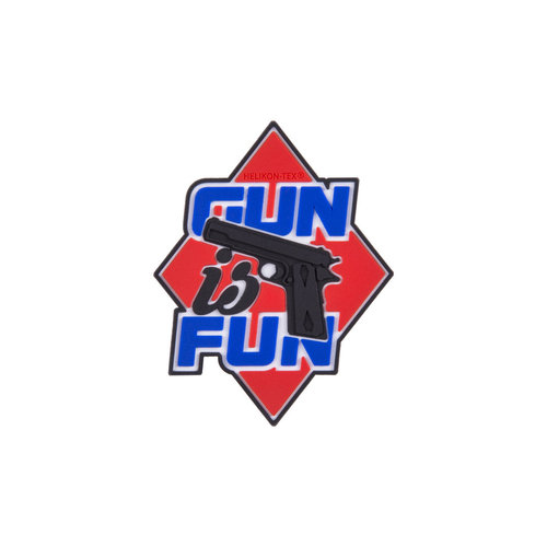 "Helikon-Tex® - Morale Patch - ""Gun is Fun"" - PVC - Farbig"
