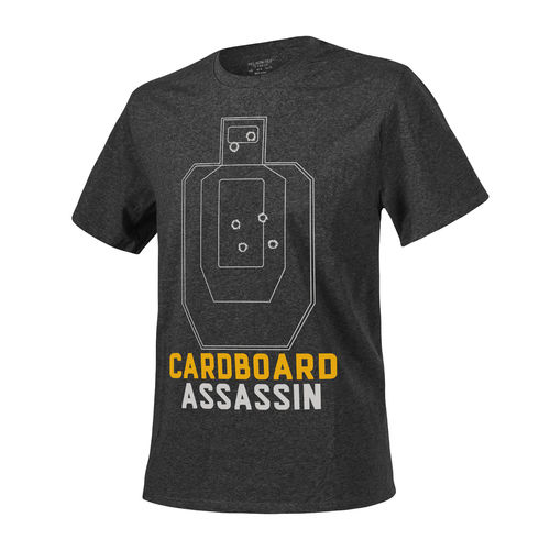 Helikon-Tex® - T-Shirt (Cardboard Assassin) - Melange Black-Grey -