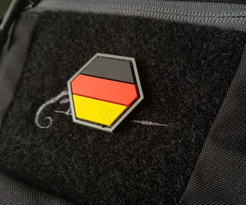 JTG - Deutschlandflagge - Hexagon Patch, fullcolor / 3D Rubber, HexPatch