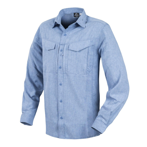 Hemd - DEFENDER Mk2 Gentleman® - Melange Light Blue